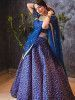 Blue Zari Embroidered Silk Bridal Lehenga Choli