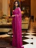 Sabyasachi Pink Sequins Georgette Party Wear Saree With Blouse