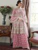 Pink Embroidered Net Festival Wear Pakistani Sharara Suit
