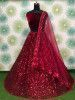 Red Sequins Heavy Net Party Wear Lehenga Choli