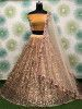 Cream Sequins Heavy Net Party Wear Lehenga Choli