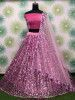 Pink Sequins Heavy Net Party Wear Lehenga Choli