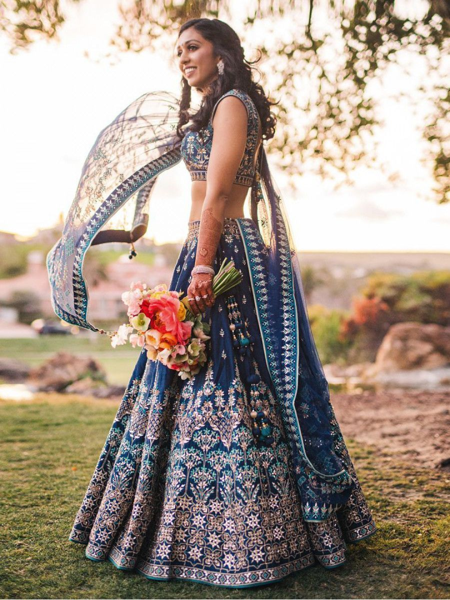 Blue Heavy Digital Printed Silk Party Wear Lehenga Choli