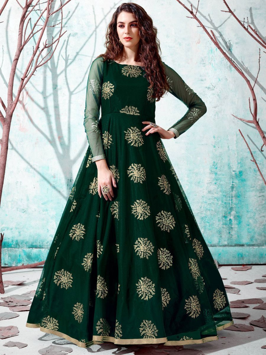 Latest Designer Gown Party Wear Gown Ladies Gown Indo Western Gown Ethnic Plus