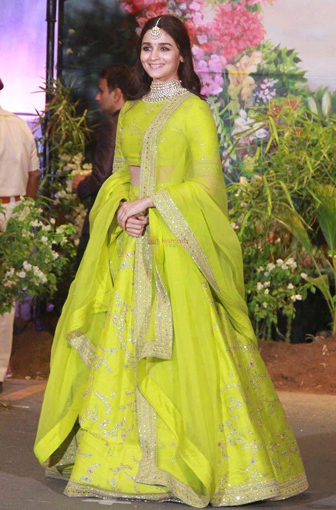 Alia bhatt Lime green lehenga choli