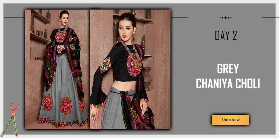 Grey chaniya Choli